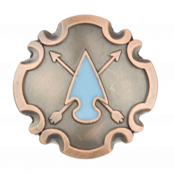 Copper Arrow Head Concho