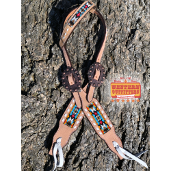 Buffalo Jump Light Beaded One Ear Headstall