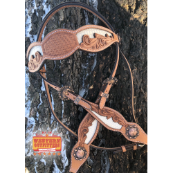 White Belle Star Headstall