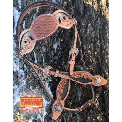Black Belle Star Headstall