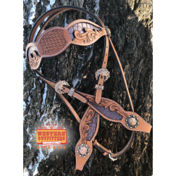 Purple Belle Star Headstall