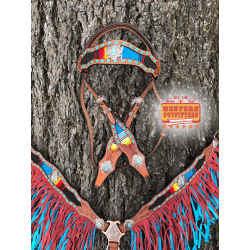 Serape headstall and fringe...