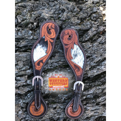 Cowhide Ladies Spur Straps
