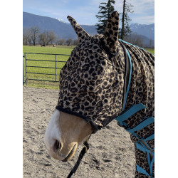 Leopard Fly Mask with Ears